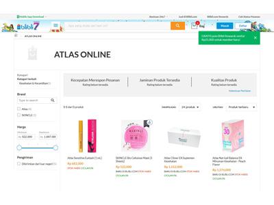 インドネシア・Blibli.comにてアトラス製品の販売開始