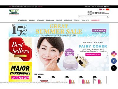 フィリピン・BEST BUY WORLDにてEYELASH SENSITIVEとFairy Coverの販売開始
