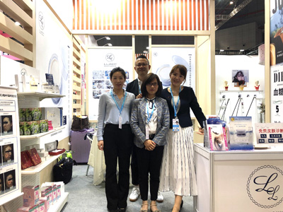 中国・上海の国家会展中心で開催されている 2019 CIBE上海大虹橋美博会 に、当社プロデュースのOEM化粧品及び当社商品の販売応援で来場