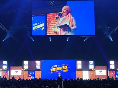 マレーシア・クアラルンプールのMITECで行われている「LAZADA Wecommerce 2019」に出展