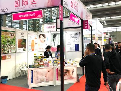 中国・深センの深圳会展中心で開催の「2019深セン国際美容化粧品博覧会」に出展
